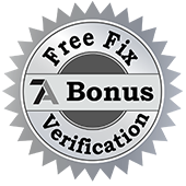 Learn More About Our Free Fix Verification Bonus