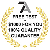Click To Learn More About Your Free Test + $1000 For You 100% Quality Guarantee